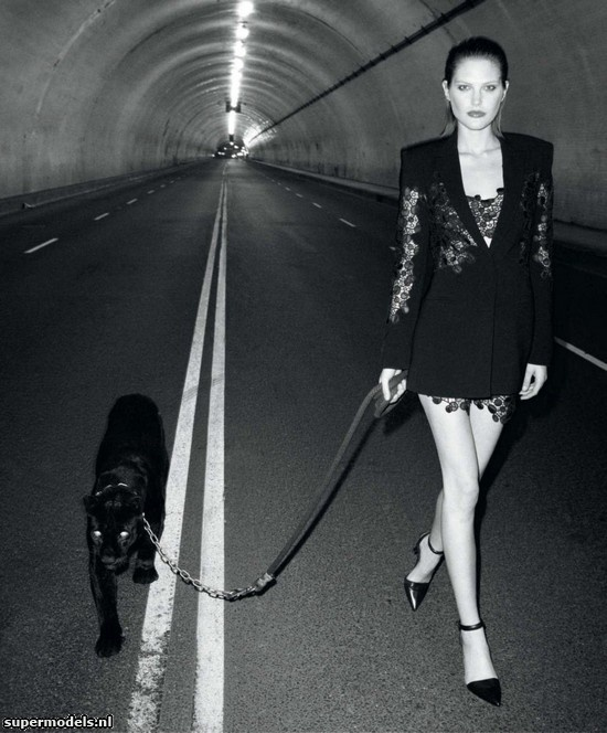 Catherine McNeil in 'Black Brings Sexy Back' - Photographed by Terry Richardson (Harper's Bazaar US March 2013)    Complete shoot after the click...