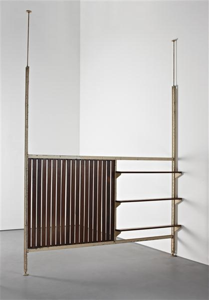 Phillips: Design, JEAN PROUVÉ WITH CHARLOTTE PERRIAND, Large 'Afrique' room divider, from the Air France building, Brazzaville, Congo