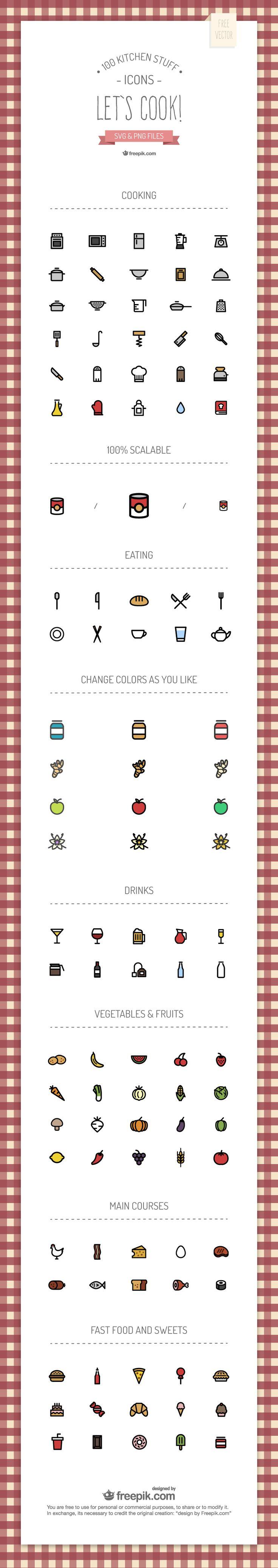 Kitchen Icons | freepik.com