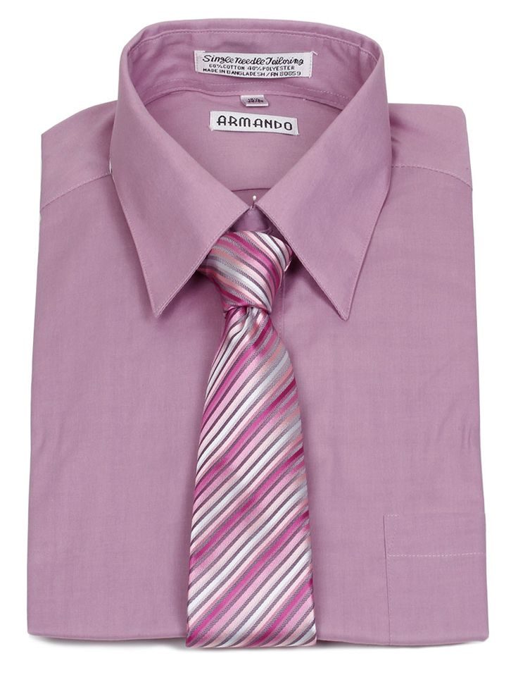 Armando Men 39 S Violet Dress Shirt Violet Pink Stripe
