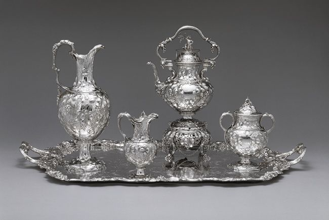 John Chandler Moore and James Dixon & Sons of Sheffield, England. Tea and coffee service, 1850. The Metropolitan Museum of Art, New York. Gift of Mrs. F. R. Lefferts, 1969 (69.141.1-4)