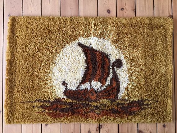On #QuirkySunday we bring you a nice #modernist #shag #rug  / #rya rug, #Scandinavian #1960s - #1970s #teampinterest