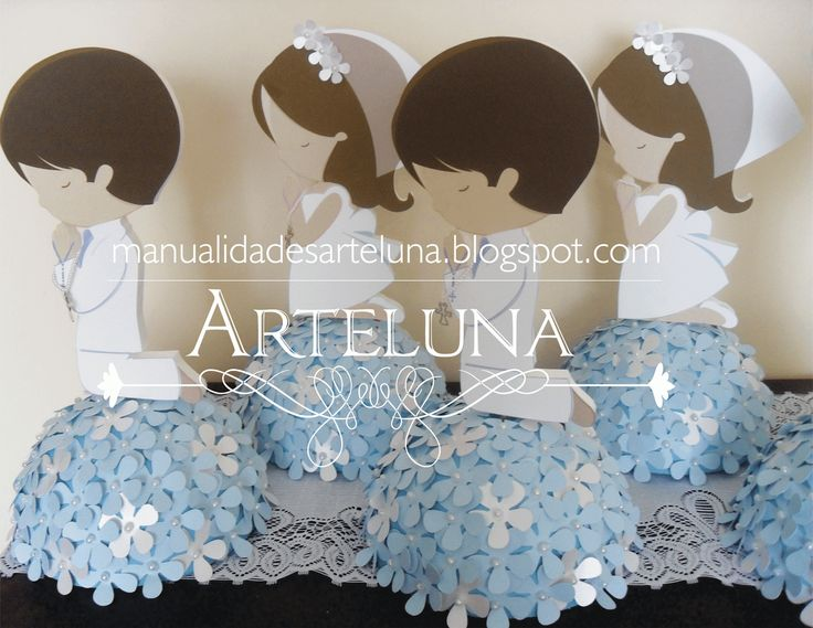 Centros de Mesa Primera Comunion Niña o Niño - Centerpiece First communion boy and girl