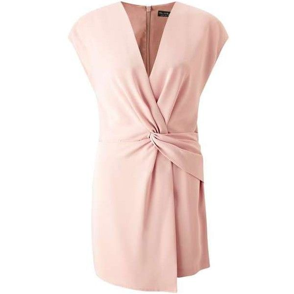 Blush Drape Playsuit ($56) ❤ liked on Polyvore featuring jumpsuits, rompers, miss selfridge, pink rompers, pink romper and playsuit romper