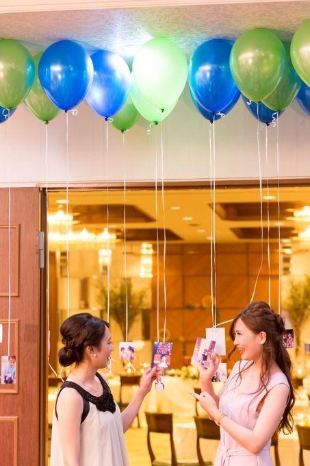 【福岡県久留米市 ホテルニュープラザKURUME・ウェディング】ウェルカムスペース・バルーンに思い出フォトを飾って☆
