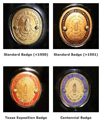 Singer Featherweight Badges