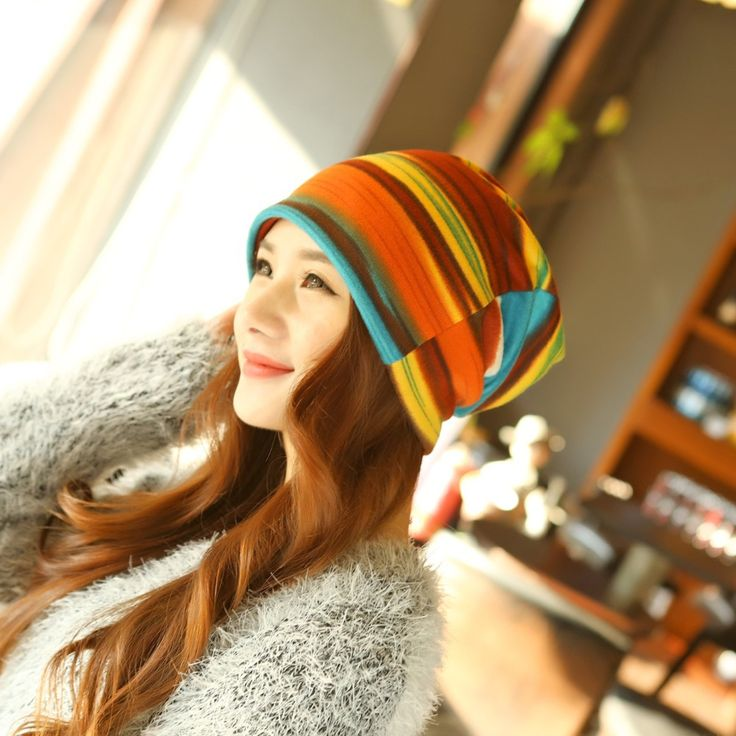 2015 New Arrival Women's Autumn and Winter Hedging Caps Tide Headgear Hat Colorful Striped Scarf Beanies Multi Use Bonnet Hat-in Skullies & Beanies from Women's Clothing & Accessories on Aliexpress.com | Alibaba Group  #beanie #winter #fashion #autumn #skullie #clothing #design #aliexpress