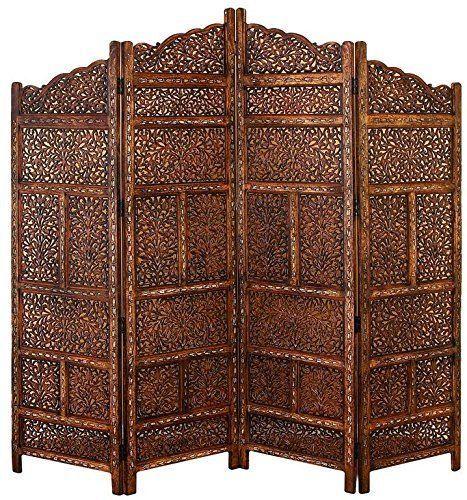 Deco 79 Villa Este Wood Room Divider 4 Panel Carved Screen | Home & Garden, Furniture, Screens & Room Dividers | eBay!
