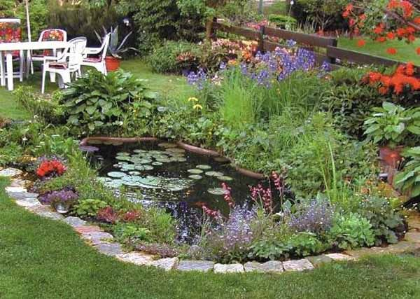 21 garden design ideas small ponds turning your backyard for Backyard flower garden designs