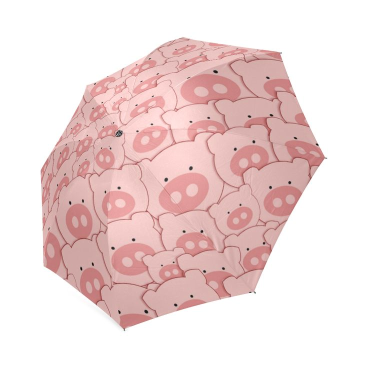 Pink Piggy Pigs Foldable Umbrella
