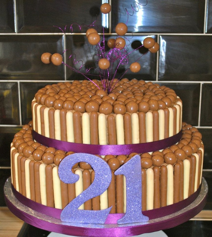 2 Tier 21st Chocolate Mud Malteser Cake food Pinterest Malteser cake, Chocolate and Cake