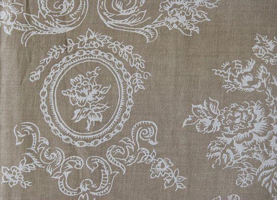 Tissu coton imprimé baroque, tissu d ameublement, tissu français, coupon de  tissu, lin et coton, éditeur textile, tendance shabby chic 798c82924c9