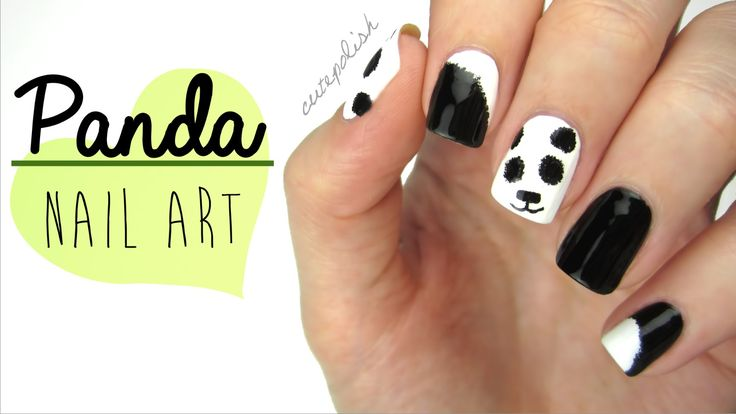 Nail Art: Fuzzy Panda Nails! so adorable, and it seems pretty simple