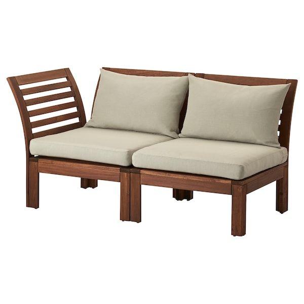 Applaro 2er Sitzelement Aussen Braun Hallo Beige Ikea Deutschland In 2020 Ikea Garden Furniture Outdoor Furniture Ikea Outdoor