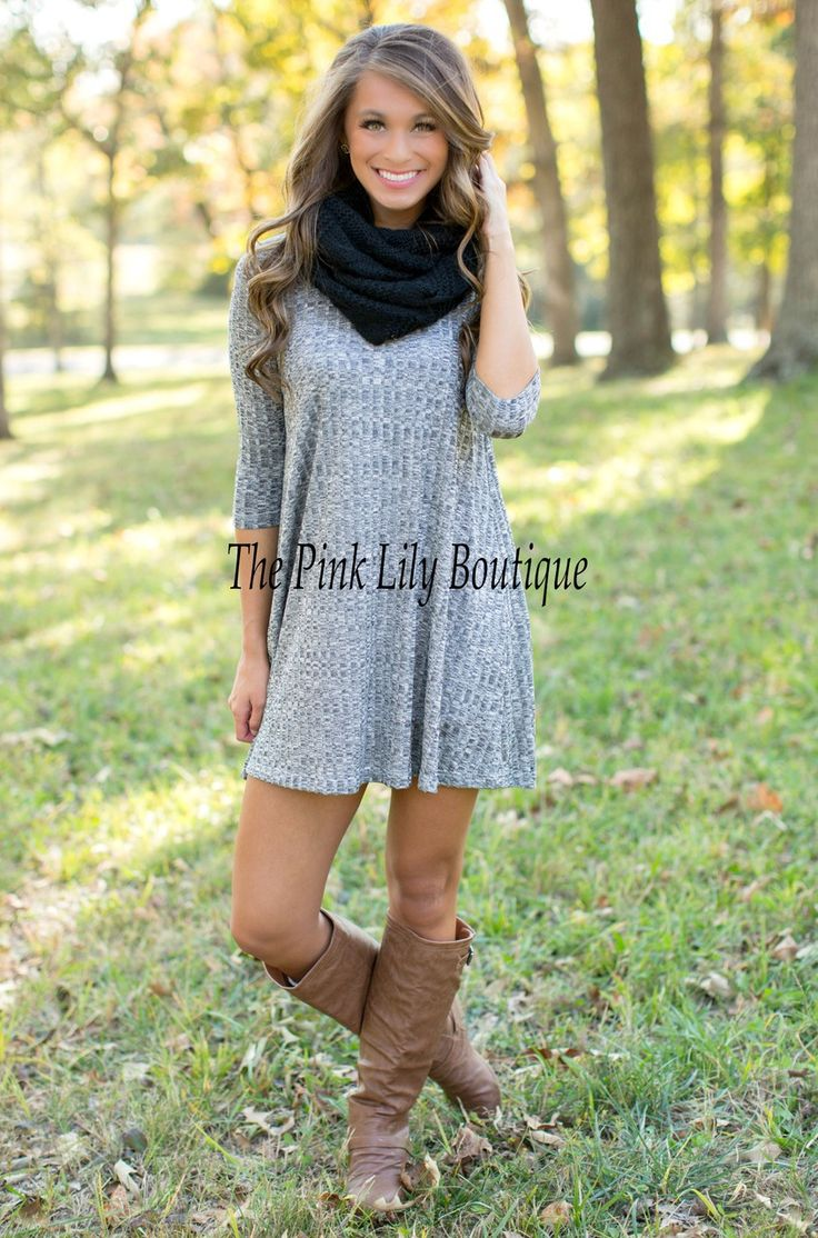 The Pink Lily Boutique - Say You Will Charcoal Dress, $34.00 (http://thepinklilyboutique.com/say-you-will-charcoal-dress/)