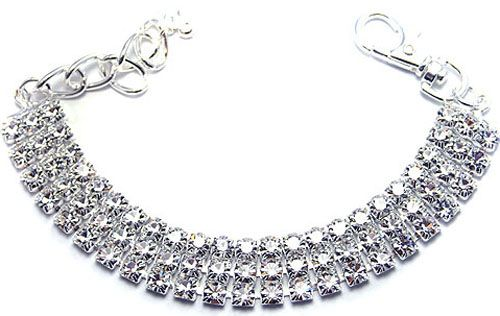 Designer Pet Jewelry- Bling Dog Jewelry For Small Dogs, Jewelry For Pets, Rhinestone Dog Collar, Cut