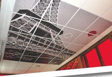 Impression de dalle de faux plafond - DreamDéco