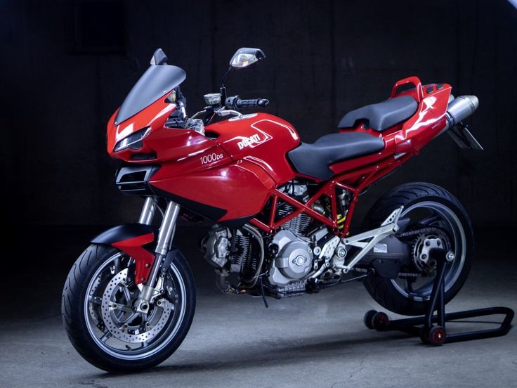 Ducati Multistrada with 999 headlights grafted into