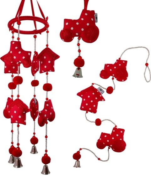 Rode accessoires voor in de kinderkamer