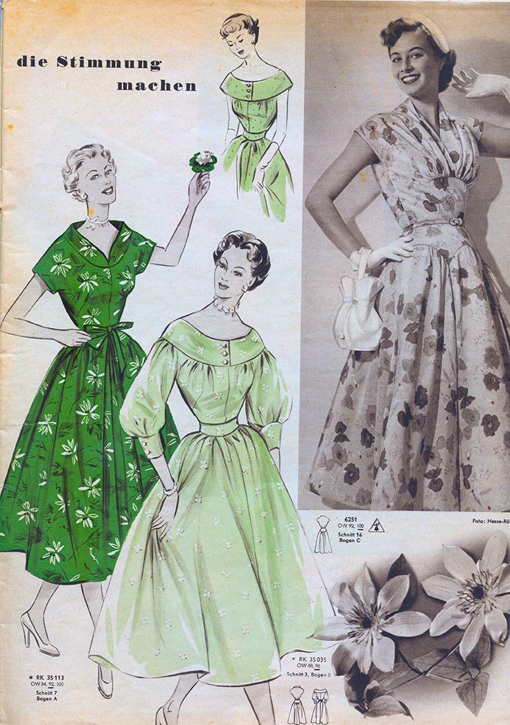 Free vintage dress sewing pattern