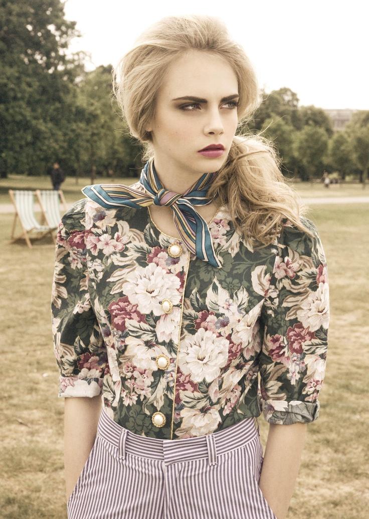 Beautiful colour palette.  Model: Cara Delevingne