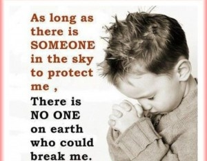 With a great God in the sky what is there to fear