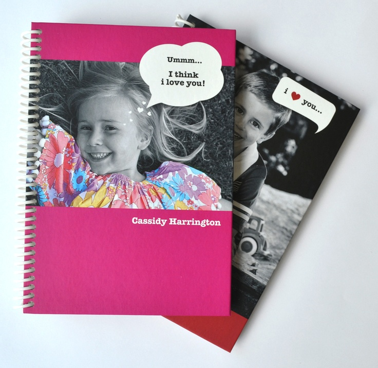 Personalised Love Bubble journal/ notepad - add a photo, write in the fun speech bubble on the front cover; this journal or notepad makes the most personal gift - www.macaroon.co