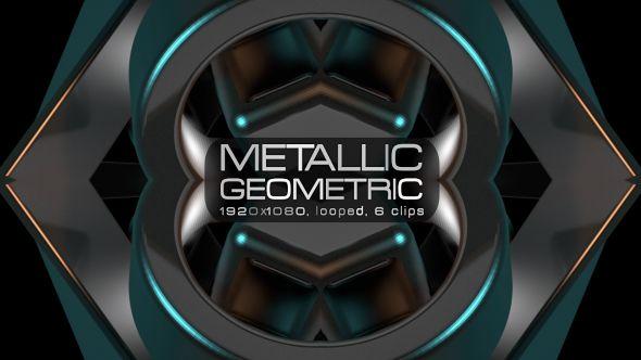 Metallic Geometric Video Animation | 6 clips | Full HD 1920×1080 | Looped | H.264 | Can use for VJ, club, music perfomance, party, concert, presentation | #3d #abstract #cyan #dance #dark# disco #elegant #geometric #gold #metallic #music #object #polygonal #rave #vj