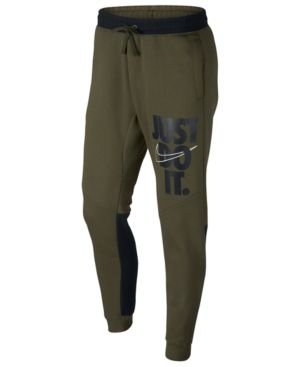 d610560a Nike Men's Sportswear Just Do It Fleece Joggers - Green L | Products in  2019 | Nike clothes mens, Nike men, Fleece joggers