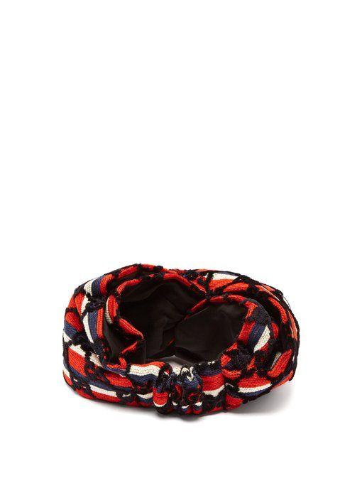 2ab1d37f8b Gucci GG-print velvet headband | H - Twist | Gucci, Baby car seats ...