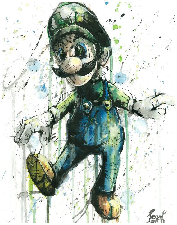 Luigi Nintendo Mario Video Game Character от PascualProductions
