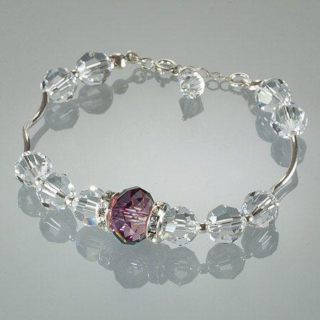 Elegant Bracelet, Elegant Jewelry, Crystal Silver Bracelet, Gift for Woman, Ready to Gift, Unique Singular Copy Jewelry by Modotikon by modotikon on Etsy