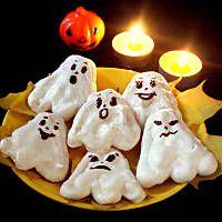 Bezowe duszki halloweenowe