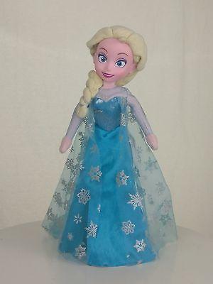 "Disney Frozen Princess Elsa Plush Stuffed Doll Toy 15"" Just Play JARFF"