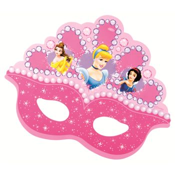 Pretty Disney Princess Free Printable Mask.