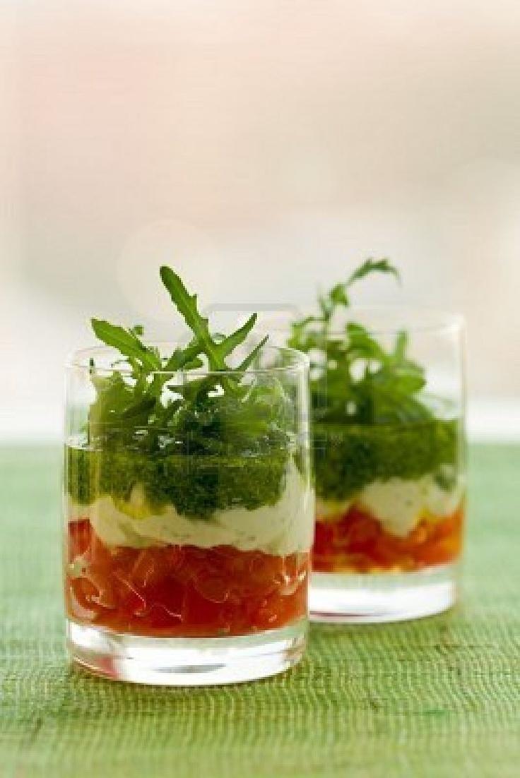 tomato, cheese and pesto stock