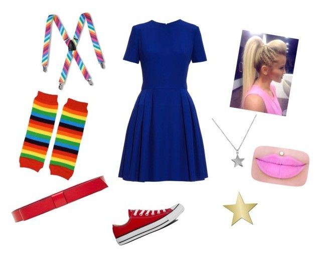 """DiY Rainbow Brite Costume"" by amaliare on Polyvore featuring Alexander McQueen, Marni, Converse, Belcho and Target"