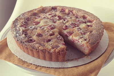 Raspberry Creme Fraiche Tart | My Kind of Food | Pinterest