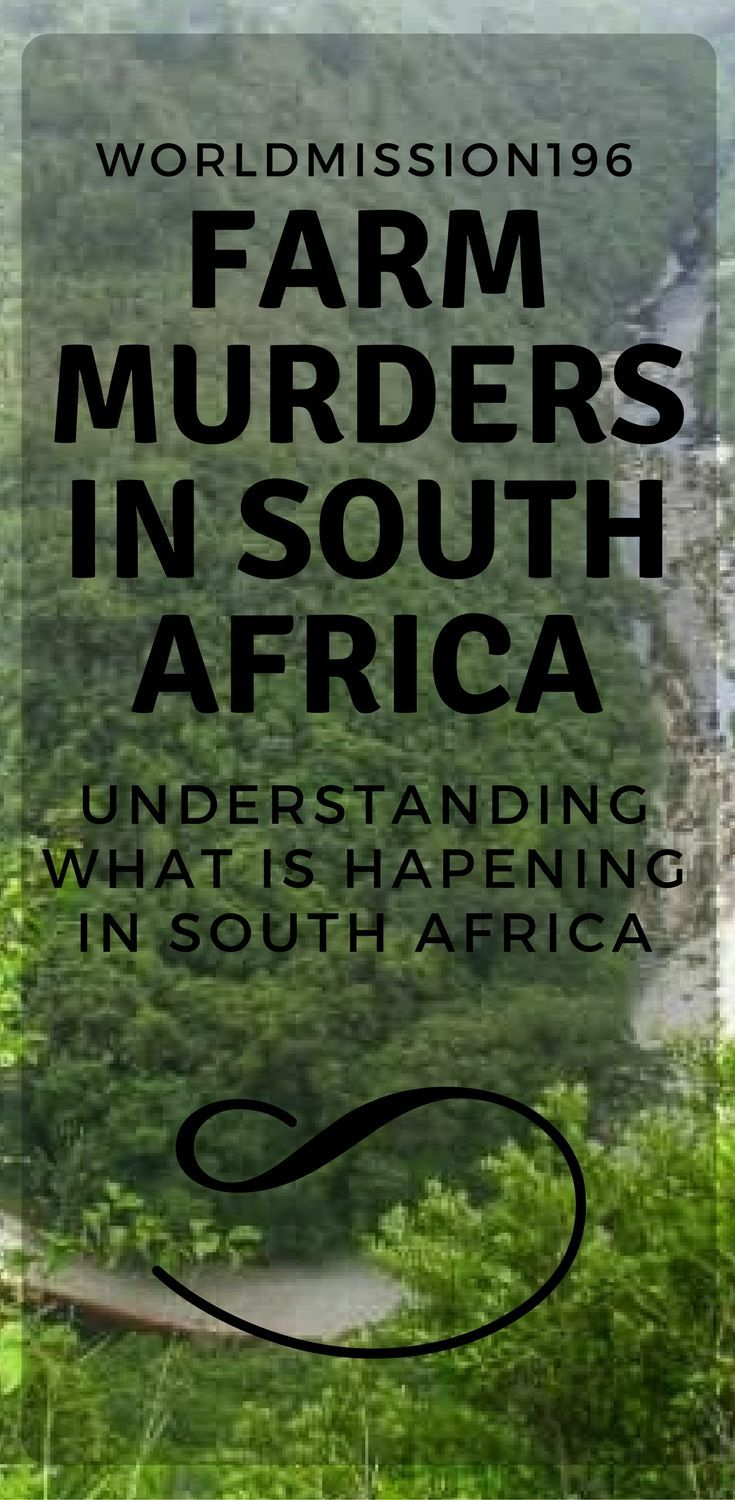 What is going on with farmers in South Africa. Why is there such a high rate of crime?