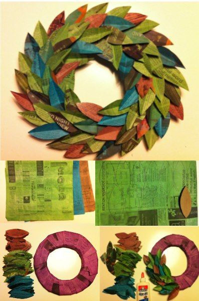 104 best newspaper art diy images on pinterest bricolage how to make beautiful wreath with newspapers step by step diy tutorial instructions might try old book pages too solutioingenieria Choice Image