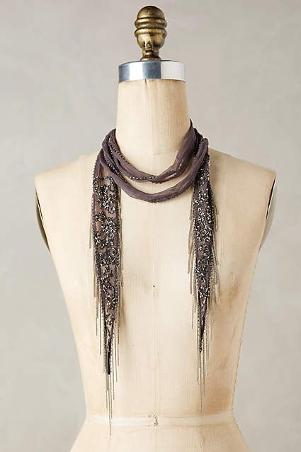 Holiday Style - Chan Luu Beaded Skinny Scarf