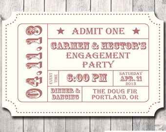 Ticket Stub Invitation Template - Bing images
