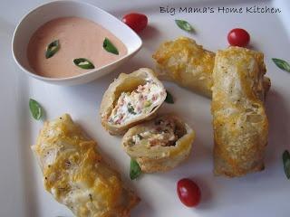 Big Mama's Home Kitchen: Jalapeno Popper Egg Rolls