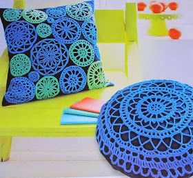 Jeito de Casa - Blog de Decoração: Almofadas de crochê para inspirar e decorar