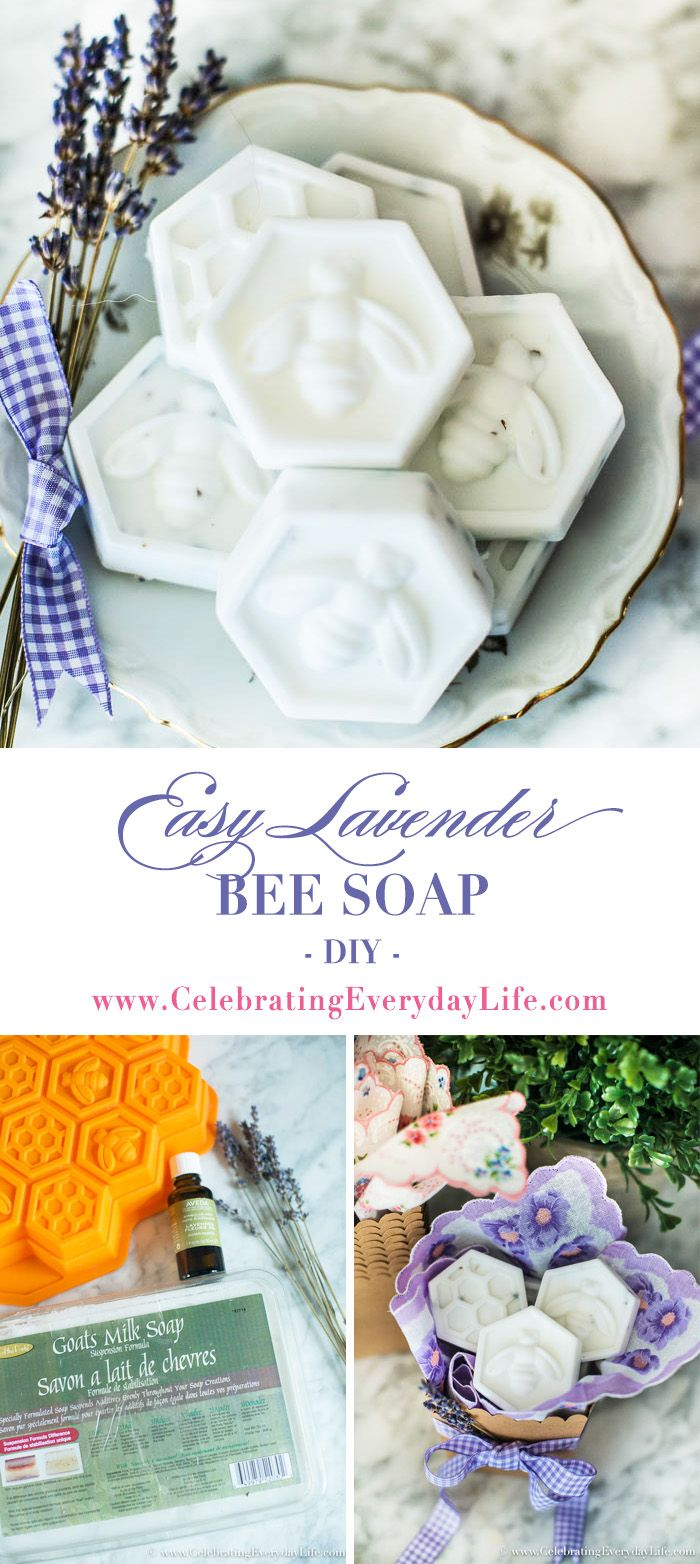 Two ingredients and less than 10 minutes are all it takes to make these beautiful and gift-worthy Easy DIY Bee Soaps! via @jencarrollva