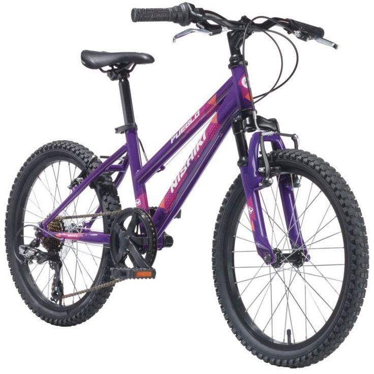 Nishiki Girls' Pueblo 20'' Mountain Bike, Pink/Purple