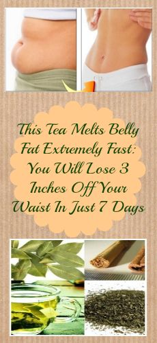 This Tea Melts Belly Fat Extremely Fast: You Will Lose 3 Inches Off Your Waist In Just 7 Days (RECIPE)