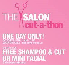 Donate $10 to The Breast Cancer Research Foundtion Get Your Choice of (1) of 3 ULTA  Salon Services (Sunday 10/9 Only)