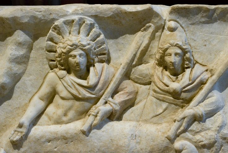 Sol: Mithras relief from Fiano Romano, reverse: Mithras banqueting with Sol, 2nd or 3rd c.