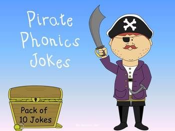 Why does it take a pirate so long to learn the alphabet?  He spends years at C!!!  Kids LOVE jokes!  These short videos teach them jokes as they decode words.  They review beginning, middle, and ending sounds as they write the punch lines.  As they write, they predict the punch line and what letter they will use next.  This is GREAT for improving reading and spelling skills.  Kids BEG to do this!  Nothing to prep - just push play!  10 jokes for $3!